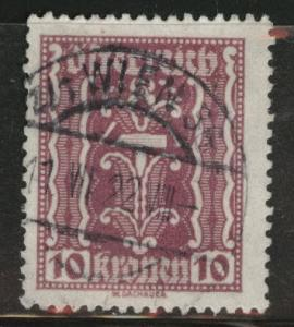 Austria Scott 257 Used stamp from 1922-24 set