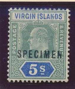 British Virgin Islands Stamp Scott #37, Specimen, Mint Hinged - Free U.S. Shi...