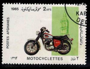 Afghanistan Scott 1176 Used CTO Motorcycle stamp