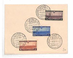 AM157 Egypt Official First Day Cover 1938 Cairo INTERNATIONAL TELECOM CONFERENCE