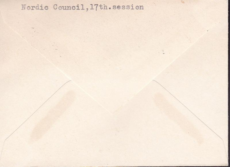 Sweden 1969 Cover for the Nordic Council meeting in Stockholm  VF