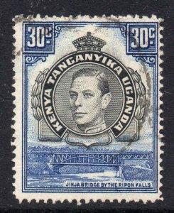 KUT 1938 KGVI 30c perf 14 SG 141a used - Kenya Uganda Tanganyika