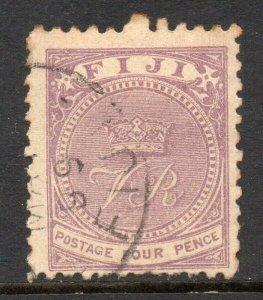 Fiji 1878 4d mauve perf 11 SG 56 used