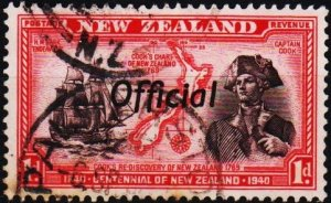 New Zealand. 1940 1d(Official) S.G.O142  Fine Used