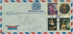 84278 - ECUADOR - POSTAL HISTORY -  AIRMAIL COVER to ITALY  1968 - ART Pictures