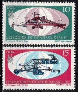 Germany DDR MNH 1279-80 Leipzig Spring Fair 1971