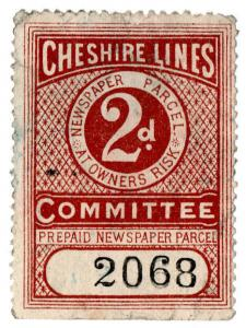(I.B) Cheshire Lines Committee Railway : Newspaper Parcel 2d