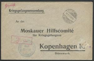 GERMANY 1917 POW cover to Denmark..........................................58094