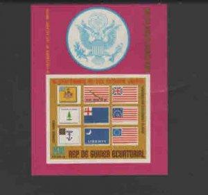 EQUITORIAL GUINEA 1975  AMERICAN BICENTENNIAL MINT  VF NH O.G  S/S IMP. (EQ20  )
