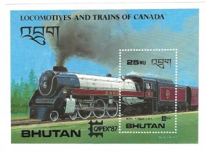 Bhutan 605  SS Mint NH VF 1987 PD