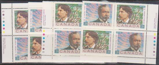 Canada USC #1244a Mint MS Imprint Blocks VF-NH Face $6.08 1998 Canadian Poets