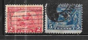 US#549-550   Pilgrim Tercentenary Issue (U) CV $14.10