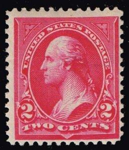 US STAMP #267 1895 2¢ Washington Type III MH/OG STAMP