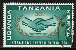 Kenya, Uganda & Tanzania 1965 Scott# 156 Used (corner)
