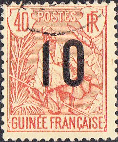 French Guinea #61 Used