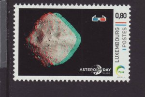 Luxembourg 2021 MNH - Asteroid Day 2021 - stamp with free 3D glasses