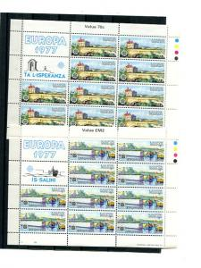 Malta 1972-1979  Europa 25  mini sheets   Mint VF NH