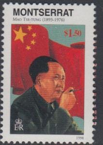 Montserrat 1998 Mao Tse-Tung Ze Dong China Chairman People Politician Stamp MNH
