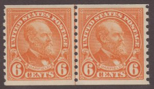 US Stamp #723 Mint Never Hinged Line Pair 723120623