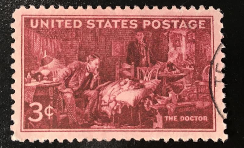 949 The Doctor, circulated single, Fine, NH, Vic's Stamp Stash