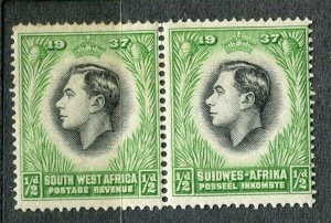 SOUTH WEST AFRICA; 1930s early pictorial issue fine Mint hinged 1/2d. Pair