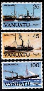 VANUATU Scott 377-379 MNH** Ausipex 84 Ship set