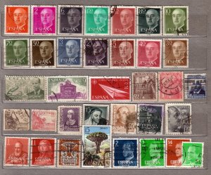 ESPANA SPAIN Different Used Stamps Lot #214