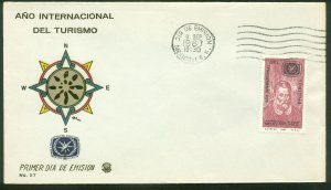 MEXICO C327, INTERNATIONAL TOURIST YEAR. FDC VF. (120)