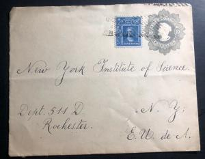 1908 Chile  Postal Stationary Cover To Science Institute  Rochester NY