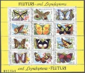 Romania 3696-3697,MNH.Michel 4716-4739. Butterflies,Moths,Flowers,1991.