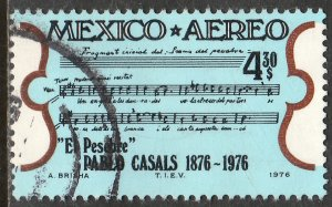 MEXICO C532 Birth Cent of Cellist Pablo Casals USED. VF.  (833)