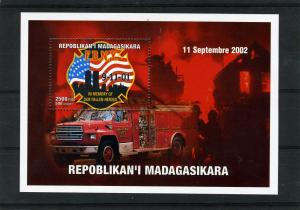 Fire Engines 9.11.2001 In Memory s/s Perforated Mint (NH)