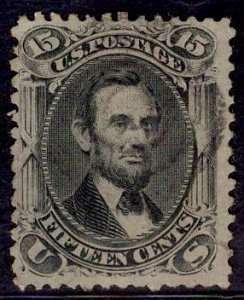 US Stamp #77 15c Lincoln USED SCV $175. Light cancel.