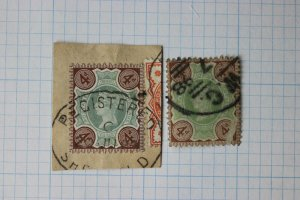 GB sc#116 color shade green variety Registered on Piece cancel Sheffield