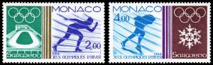 Monaco Scott 1422-1423 (1984) Mint NH VF