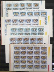 RM364 1986 ROMANIA NEW YEAR FOLK COSTUMES #4312-17 MICHEL 120 EURO 6SH MNH