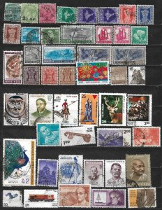 COLLECTION LOT OF 47 INDIA 1866+ STAMPS