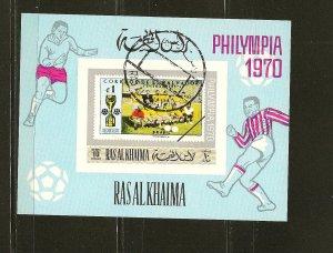 Ras al Khaima Philympia 1970 Souvenir Sheet CTO (2)