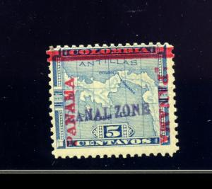 Canal Zone Scott #2 Var w/Colon Between Bar and R PANAMA Mint Stamp w/APS Cert