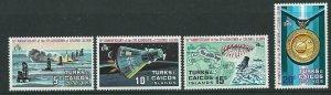 TURKS & CAICOS IS. SG361w/4w  1972 COLONEL GLENN'S SPLASHDOWN MNH