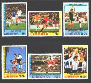Liberia. 1978. 1061-66. Football. MNH.