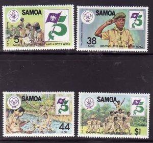 Samoa-Sc#575-8- id7-unused NH set-Boy Scouts-1982-