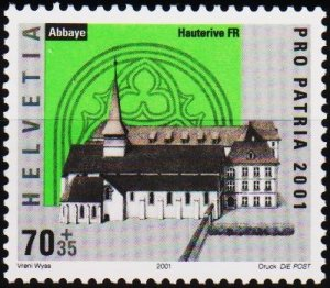 Switzerland. 2001  70c+35c S.G.1482 Unmounted Mint