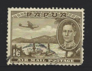 Papua New Guinea Sc#C15 Used - pulled perfs right