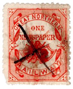 (I.B) Great Northern Railway : Single Newspaper Parcel