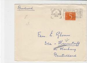 netherlands 1954  stamps cover ref 20892