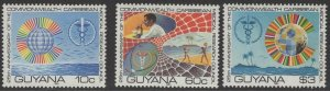 GUYANA SG749/51 1980 25th ANNIV OF COMMONWEALTH MEDICAL RESEARCH COUNCIL MNH