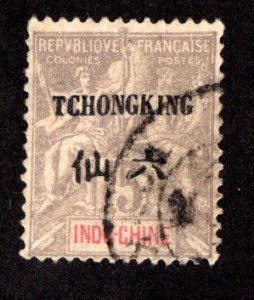 FRANCE - OFFICES IN CHINA - TCHONGKING SC# 6  F/U  1903