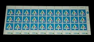 1966, ISRAEL #316, ROAD SAFETY, SHEET/30, 0.12, MNH, NICE LQQK