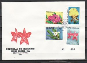 Honduras, Scott cat. C820-C823. Honduras Orchids issue. First Day Cover. ^